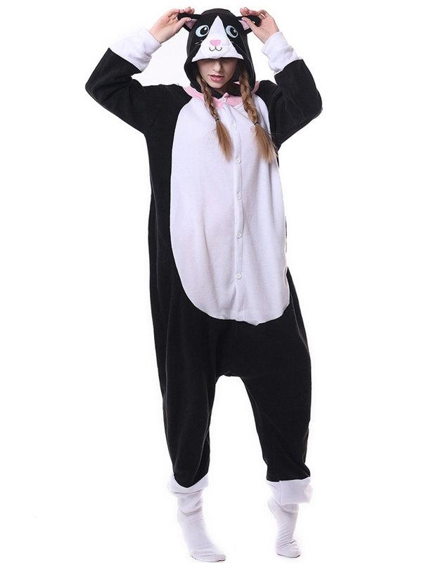 Adult Cat Onesie Pajamas Animal Onesie For Couple