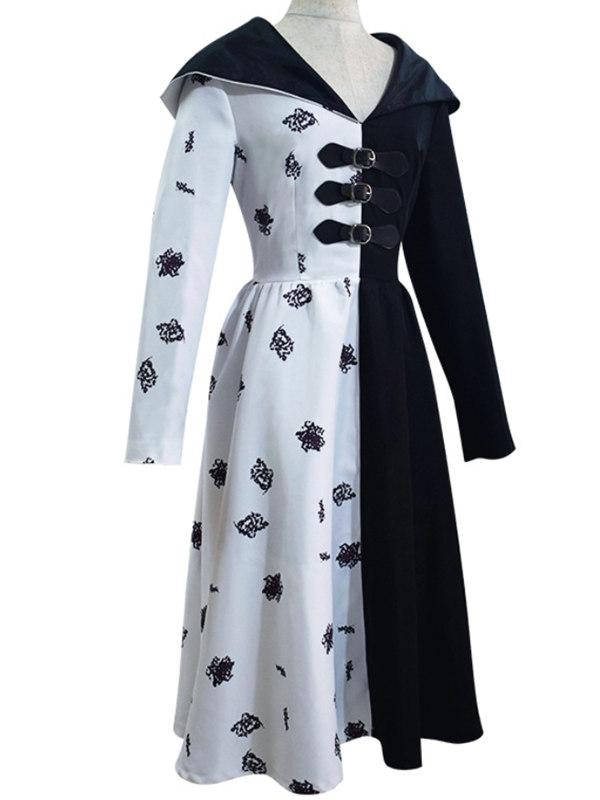 101 Dalmatians Cruella De Vil Cosplay Dress Halloween Costume