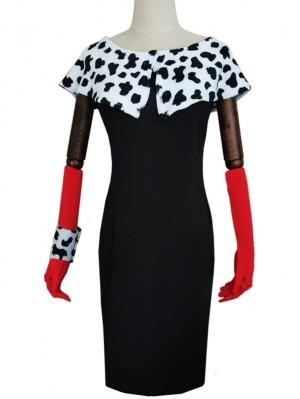 Cruella De Vil Dress Cosplay Costume Halloween Costume
