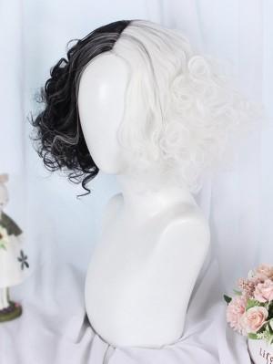 Black And White Cruella De Vil Wig Cosplay Accessores