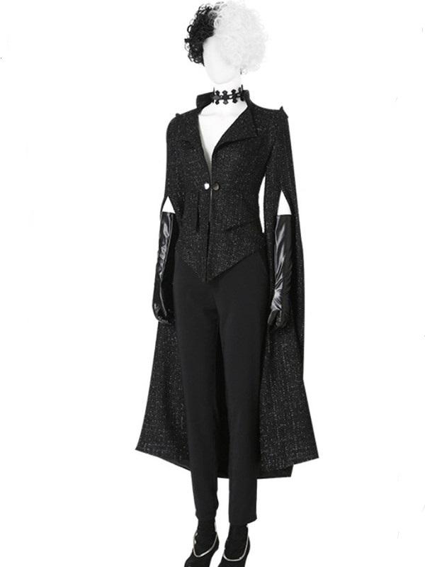 Black Cruella De Vil Costume Halloween Cosplay Costume