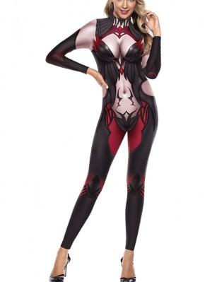 Women's 3D The Spider Queen Print Jumpsuit