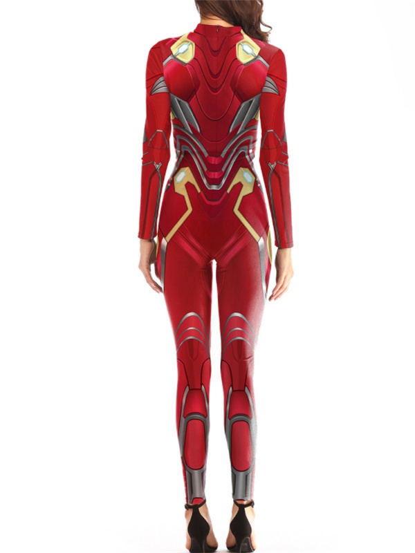 Women's Nano Iron Man Print Jumpsuit