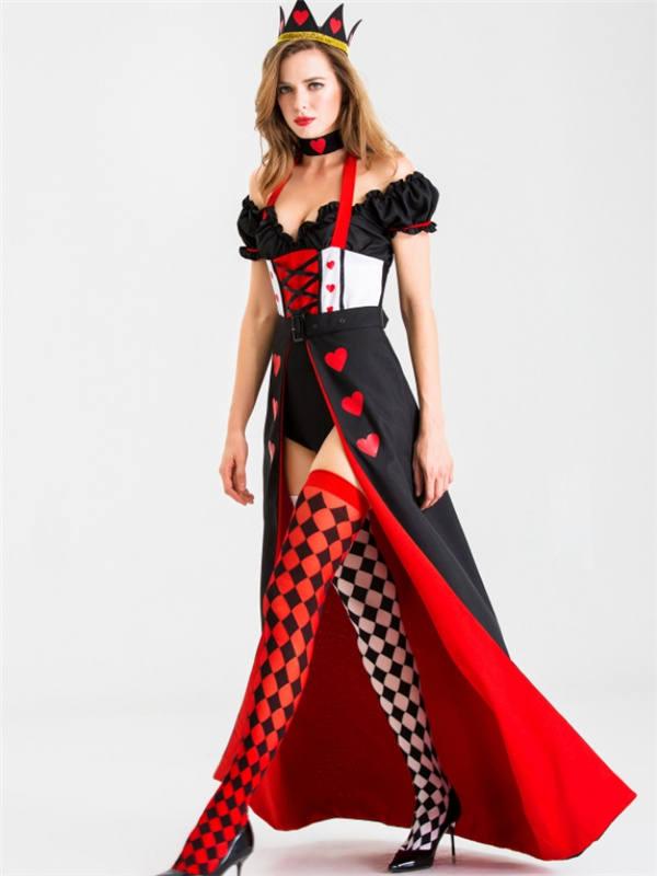 Alice in Wonderland Queen Of Hearts Cosplay Costume