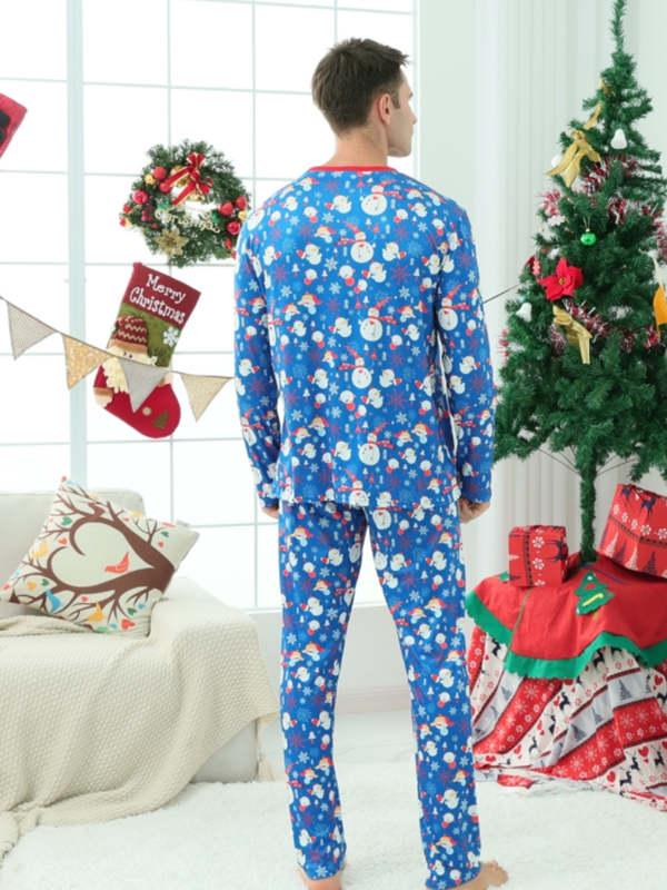 Christmas Family Matching Pajamas Snowflake Snowman Pajamas Set