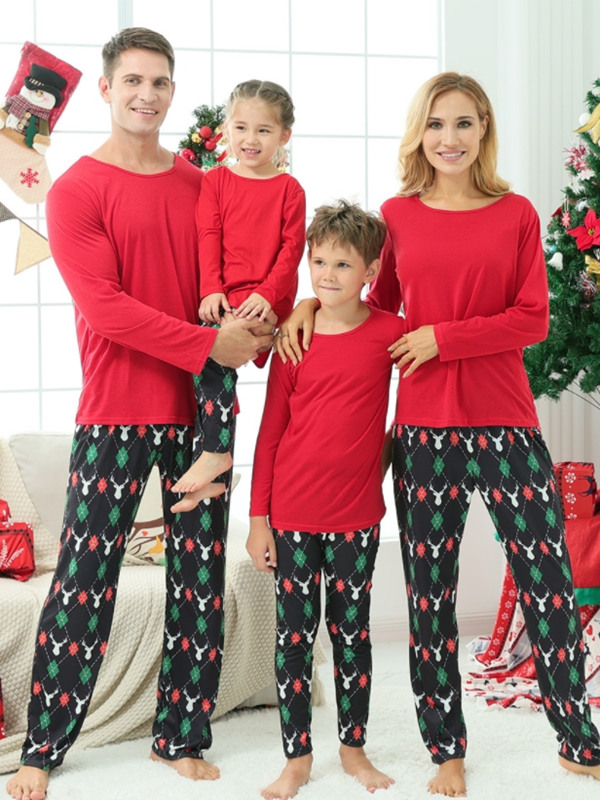 Christmas Family Matching Pajamas Red Christmas Jammies Set