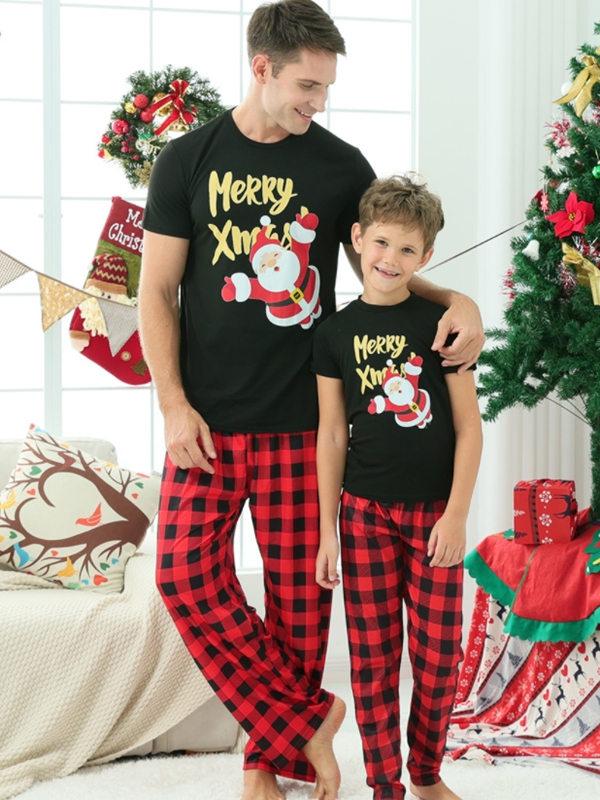 Christmas Family Matching Pajamas Merry Xmas Santa Pajamas Set