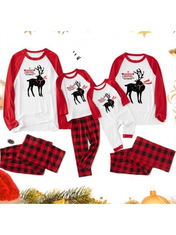 Christmas Family Matching Pajamas Deer Print Christmas Jammies Set