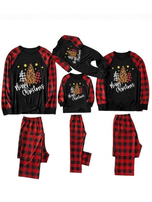 Family Christmas Matching Pajamas Christmas Tree Print Christmas Jammies Set