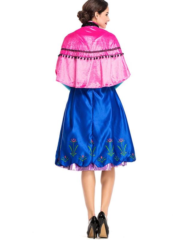 Adult Princess Anna Dress Frozen Halloween Cosplay Costume