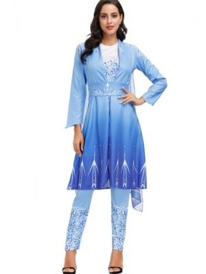 Adult Princess Elsa Dress Frozen 2 Halloween Cosplay Costume