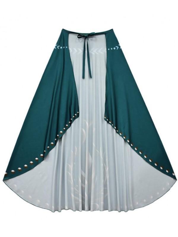 Girls Anna Dress Frozen 2 Cosplay Costume For Children