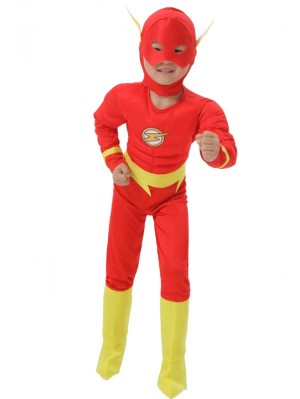 Children's The Flash Costume Flash Cosplay Costume For Kid