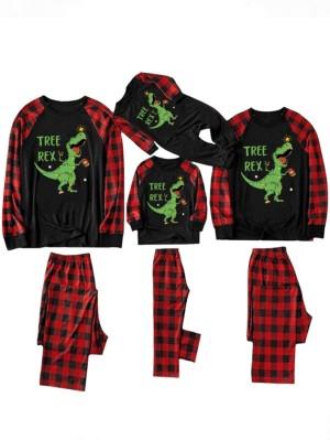 Christmas Pajama Sets Dinosaur Print Family Christmas Pajamas