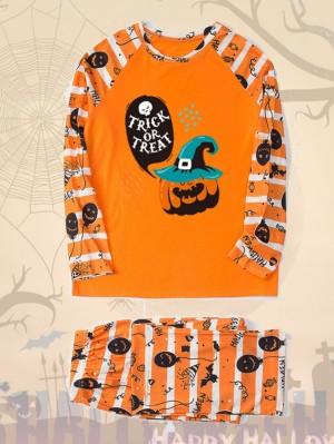 Matching Halloween Pajamas Pumpkin Halloween Family Jammies Set