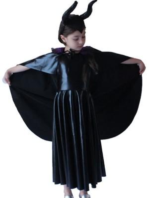 Girl Maleficent Cosplay Halloween Costume For Children