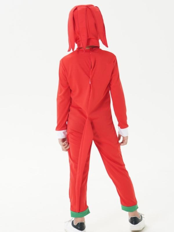 Children's Halloween Costume Kids Red Sonic Cosplay Costume