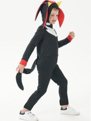 Children's Halloween Costume Kids Black Sonic Cosplay Costume