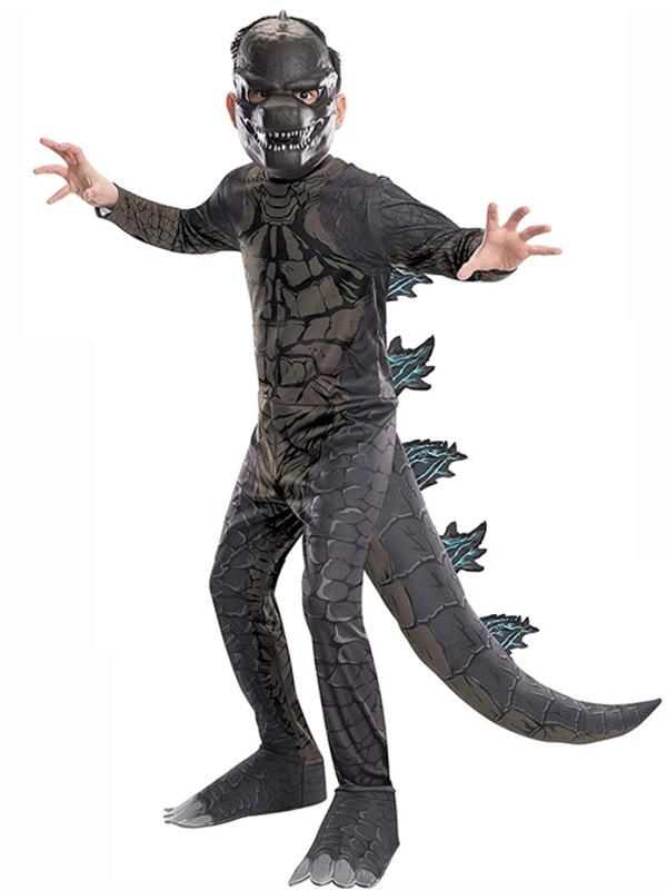 Children's Halloween Costume Kids Godzilla Cosplay Costume
