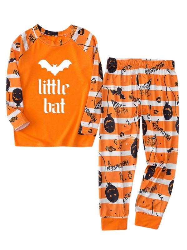 Matching Halloween Pajamas Set Bat Print Family Jammies