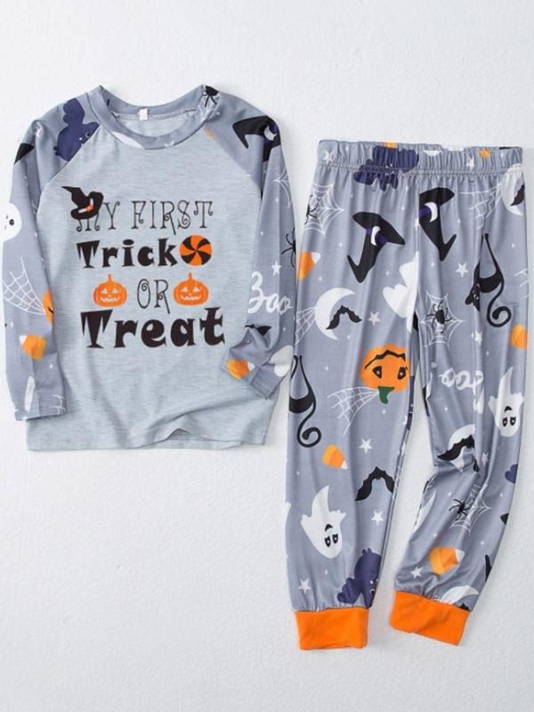 Matching Halloween Pajamas Set Trick OR Treat Print Family Jammies