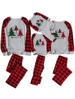 Family Christmas Jammies Trees Print Christmas Pajama Sets