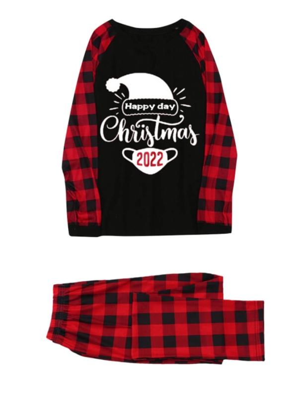 Christmas Family Matching Pajamas Happy Christmas 2022 Print Jammies Set