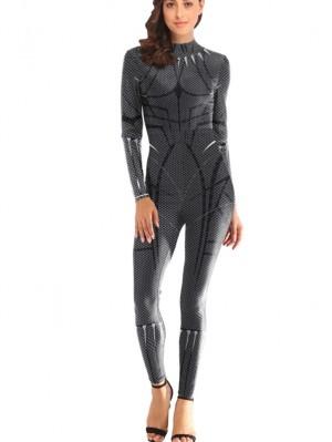 Women's Black Panther Print Bodysuit Marvel Costume