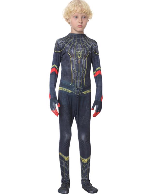 Children's Spider-Man No Way Home Black Gold Costume