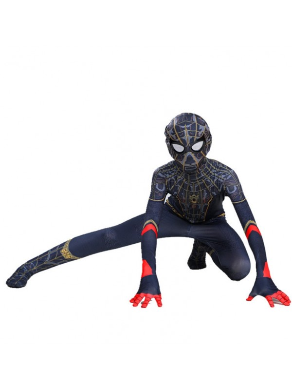 Adult Black Gold Spider-Man No Way Home Suit Halloween Costume