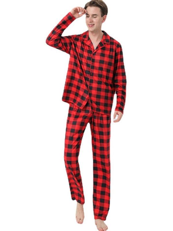 Christmas Jammies Black And Red Plaid Christmas Family Pajamas