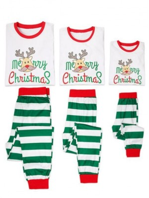 2021 Christmas Jammies Deer Merry Christmas Print Christmas Family Pajamas