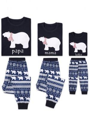 2021 Christmas Jammies Polar Bear Print Christmas Family Pajamas
