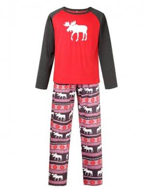 2021 Christmas Jammies Elk Print Christmas Family Pajamas