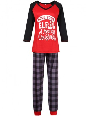 2021 Christmas Jammies Elf Merry Christmas Print Christmas Family Pajamas