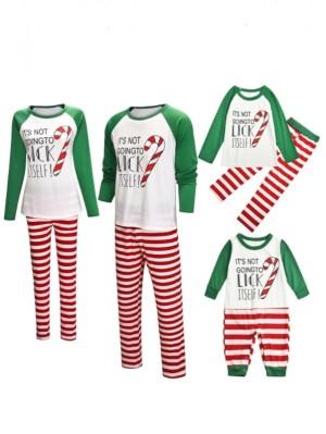 2021 Christmas Matching Family Pajamas Striped Christmas Jammies