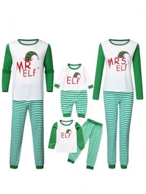 2021 Christmas Matching Family Pajamas MR MRS Elf Christmas Jammies