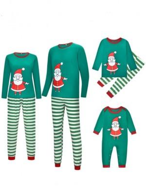 Christmas Matching Jammies Christmas Family Pajamas Santa Claus Print