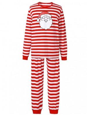 Christmas Jammies Red Striped Christmas Family Pajamas Santa Claus Print