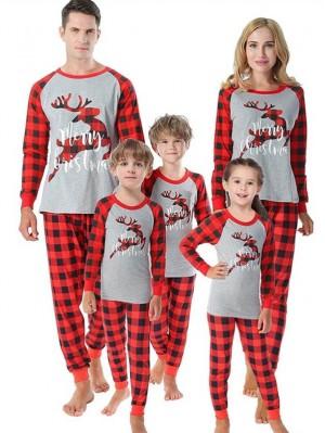 Christmas Jammies Deer Print Plaid Christmas Pajamas Matching Family