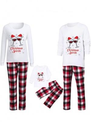 Christmas Jammies Wine Print Christmas Pajamas Matching Family