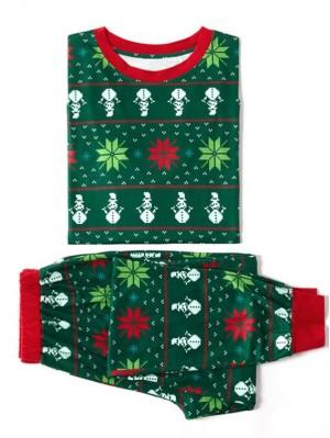 Christmas Pajamas Snowflake Print Christmas Family Matching Pajamas