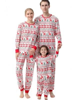Christmas Matching Pajamas Deer Print Christmas Family Pajamas