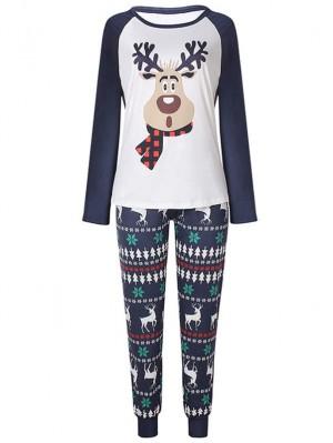 Christmas Family Pajamas Deer With Scarf Print Christmas Matching Pajamas