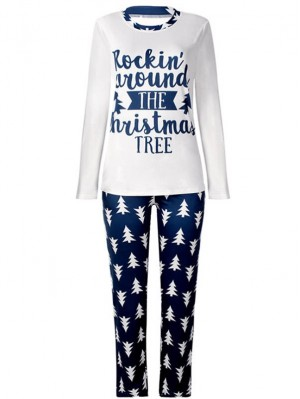 Christmas Family Pajamas Trees Print Christmas Matching Pajamas