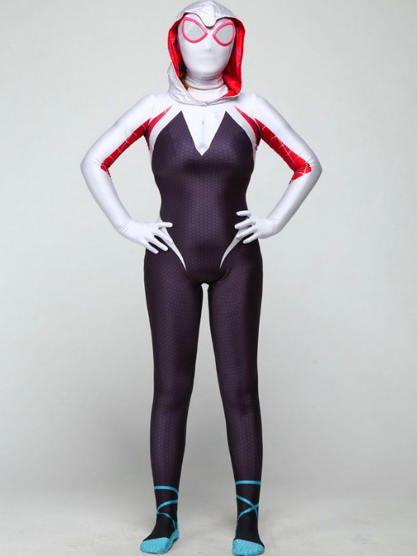 Spider-Man Into the Spider-Verse Spider Gwen Cosplay Costume Marvel Cosplay Costume