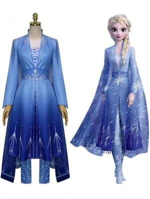 Adult Frozen 2 Princess Elsa Dress Cosplay Costume