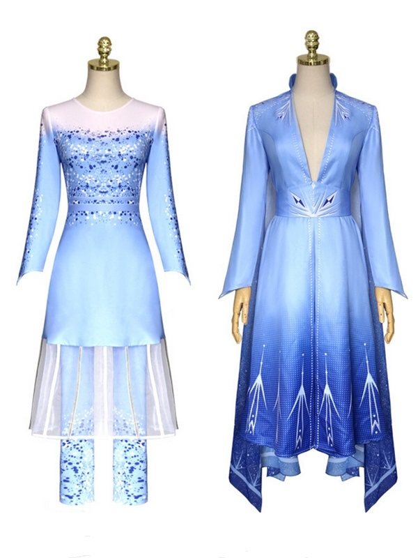 2019 Frozen 2 Princess Elsa Dress Adult Cosplay Costume