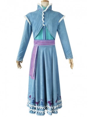 Adult Frozen 2 Princess Anna Cosplay Costume Anna Princess Dress