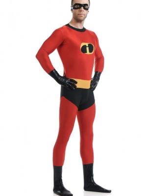 Adult The Incredibles Costume Bodysuit For Men And Women